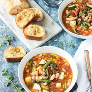 Summer Stew (Vegetable & White Bean Soup Recipe)