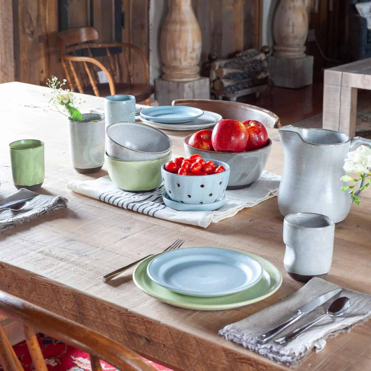 Off Your Rocker Pottery Funky Farmhouse Tablescape.