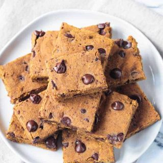 Pumpkin Chocolate Chip Bars (Vegan)