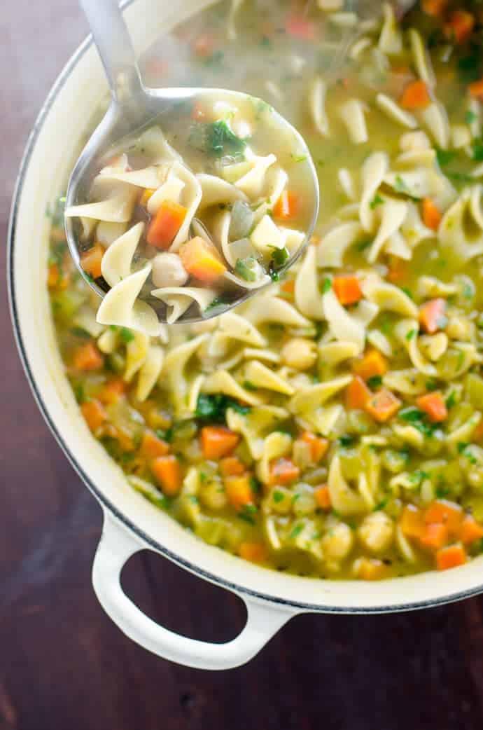 Vegan Soup Recipes - Chickpea Noodle Soup