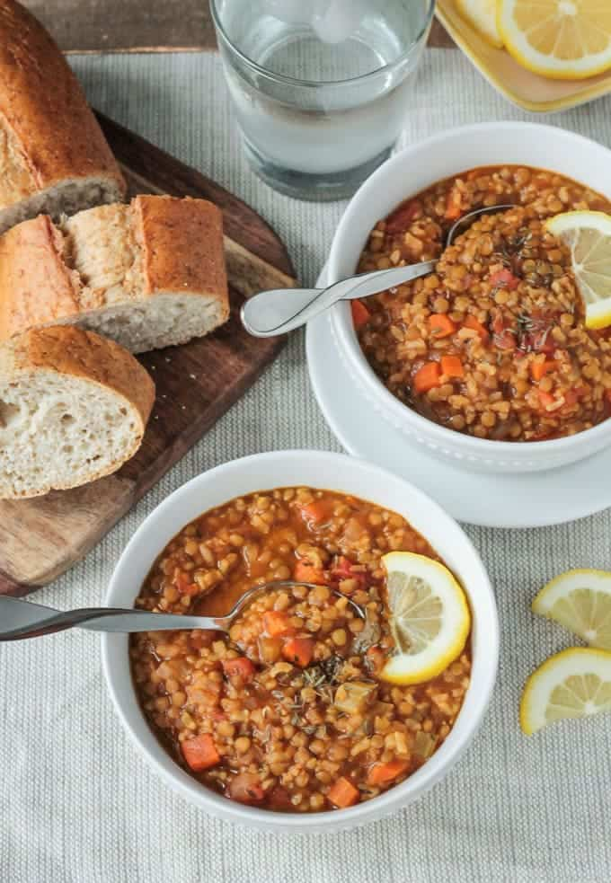 Lentil Rice Soup (Dairy Free, Gluten Free)