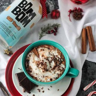 Spiked Hot Cocoa w/ Cinnamon (Dairy Free)