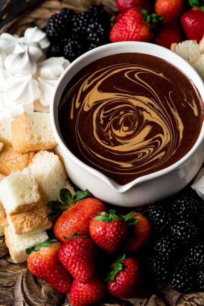 Vegan Chocolate Recipes: Peanut Butter Chocolate Fondue