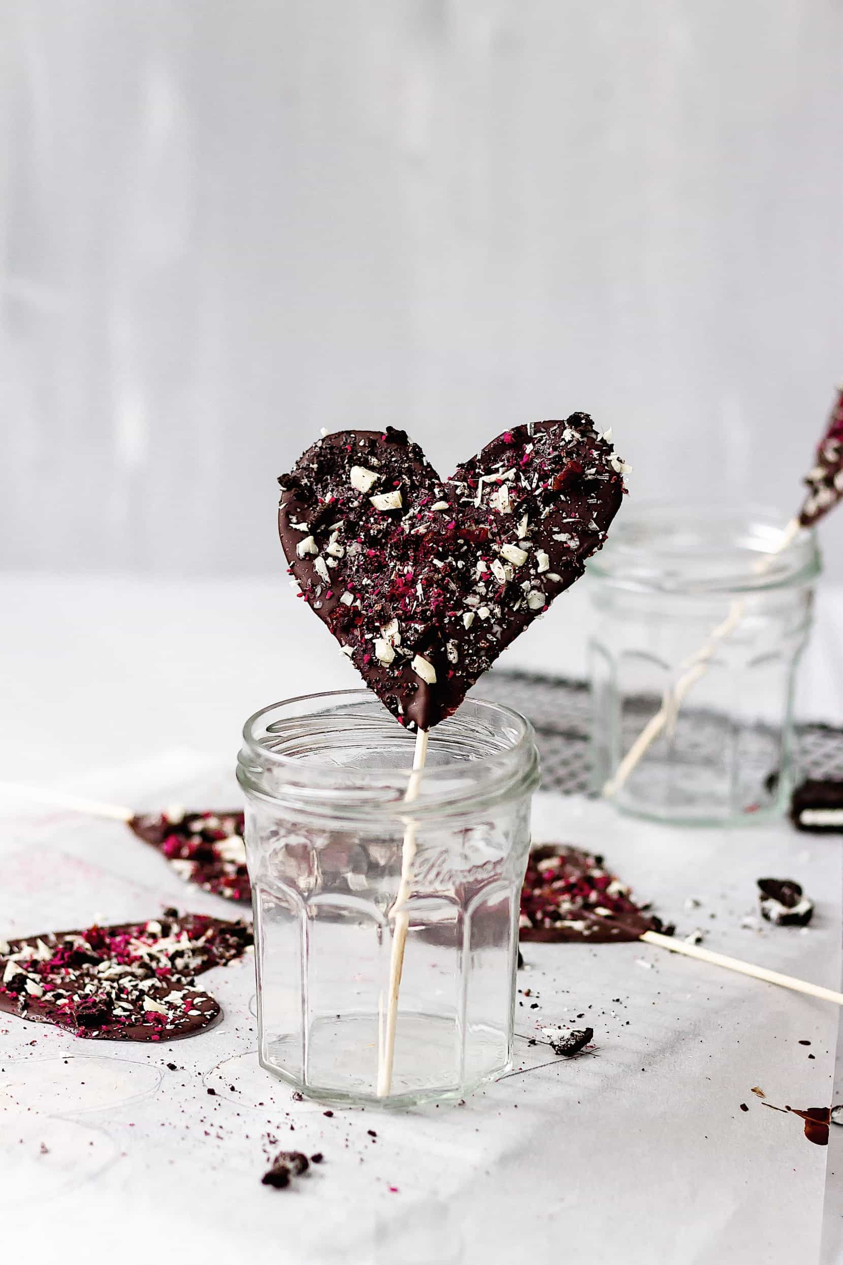 Vegan Chocolate Recipes: Chocolate Heart Lollipops