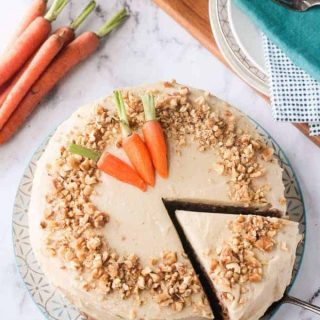 Vegan Carrot Cake w/ Cashew Cream Cheese Frosting