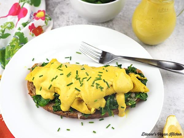 Vegan Eggs Florentine