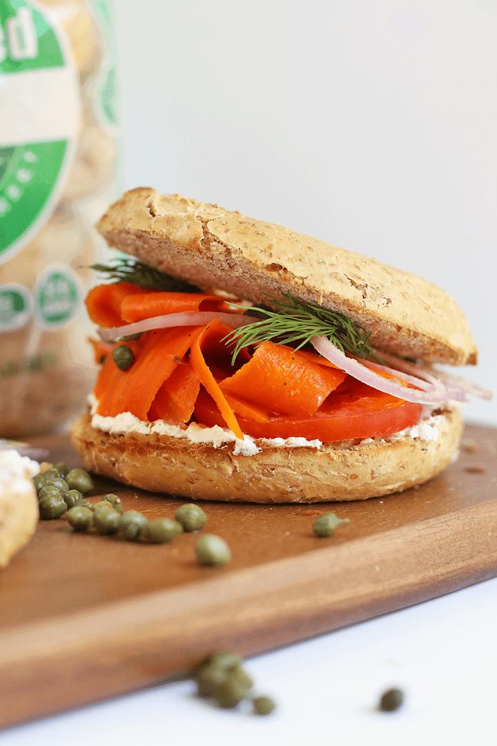 Vegan Lox Bagel Sandwich