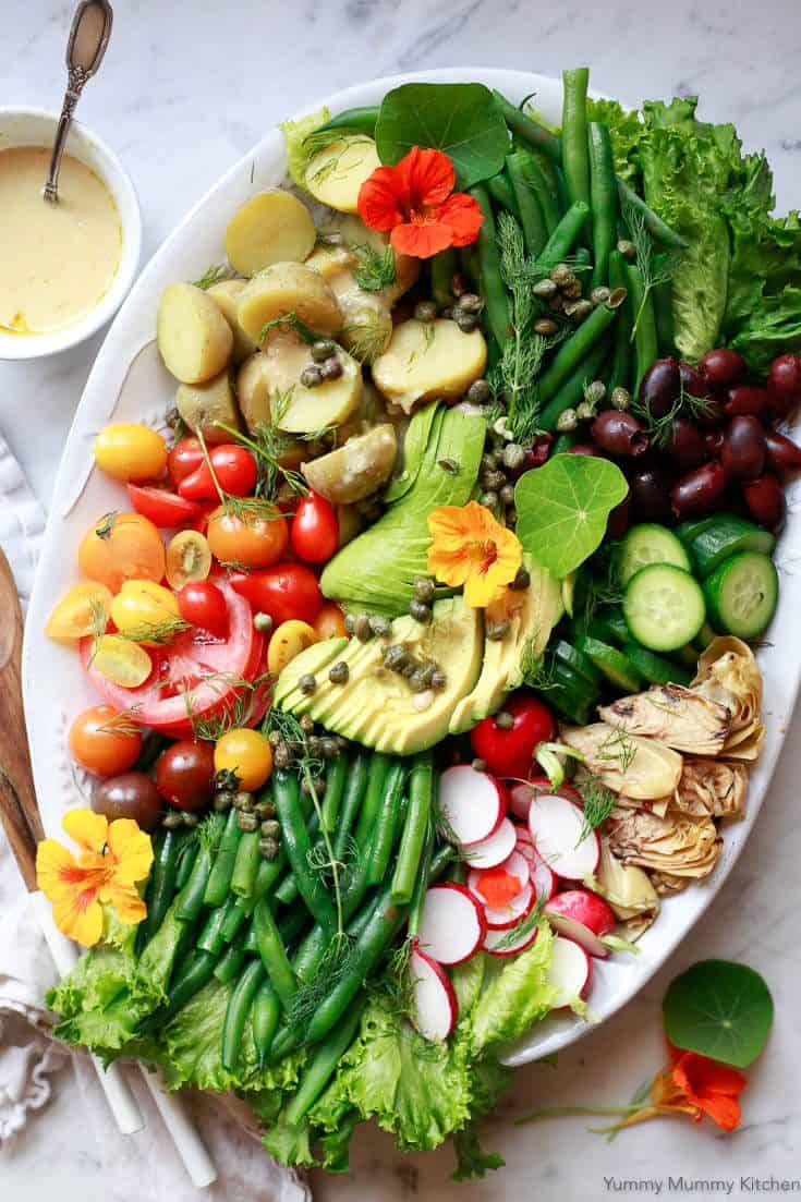 Spring Nicoise Salad with Green Beans and Shallot Vinaigrette