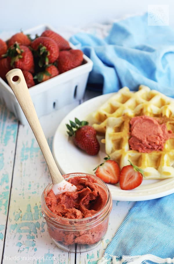 Strawberry Compound Butter — Dairy Free & Vegan!
