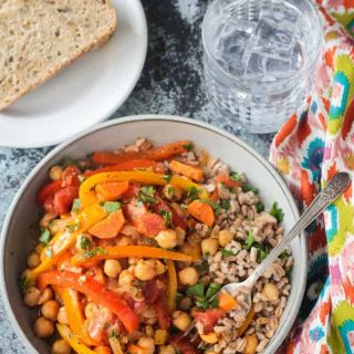 Italian Peppers and Chickpeas (Gluten Free)