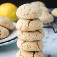 Lemon Crinkle Cookies (Vegan, Gluten Free)