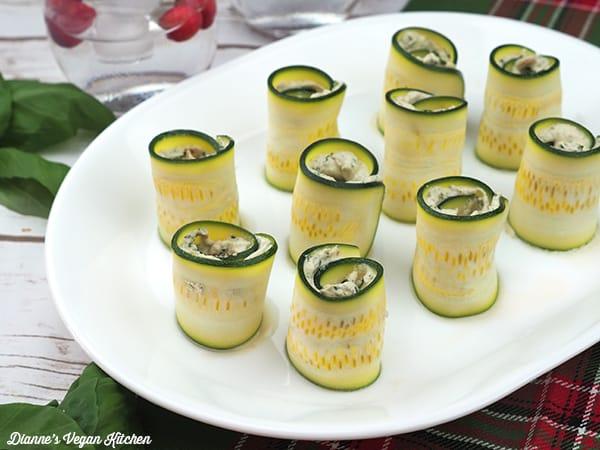 Vegan Cheese & Zucchini Pinwheels