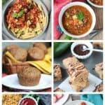 6-Photo collage of zucchini recipes.