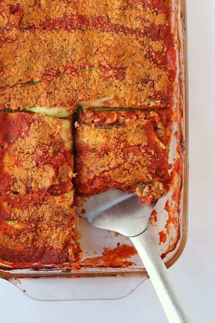 Gluten Free Zucchini Noodle Lasagna