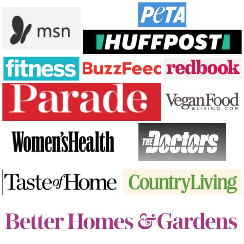 photo of media outlets Veggie Inspired has been featured in