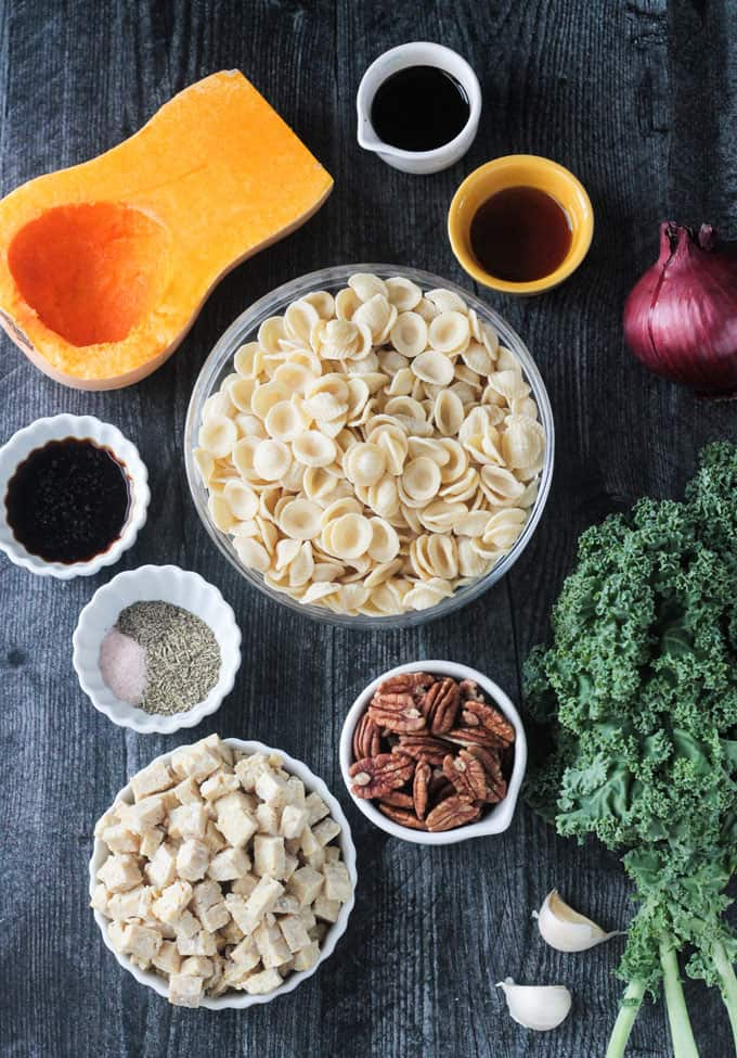 Ingredients for the recipe in individual bowls