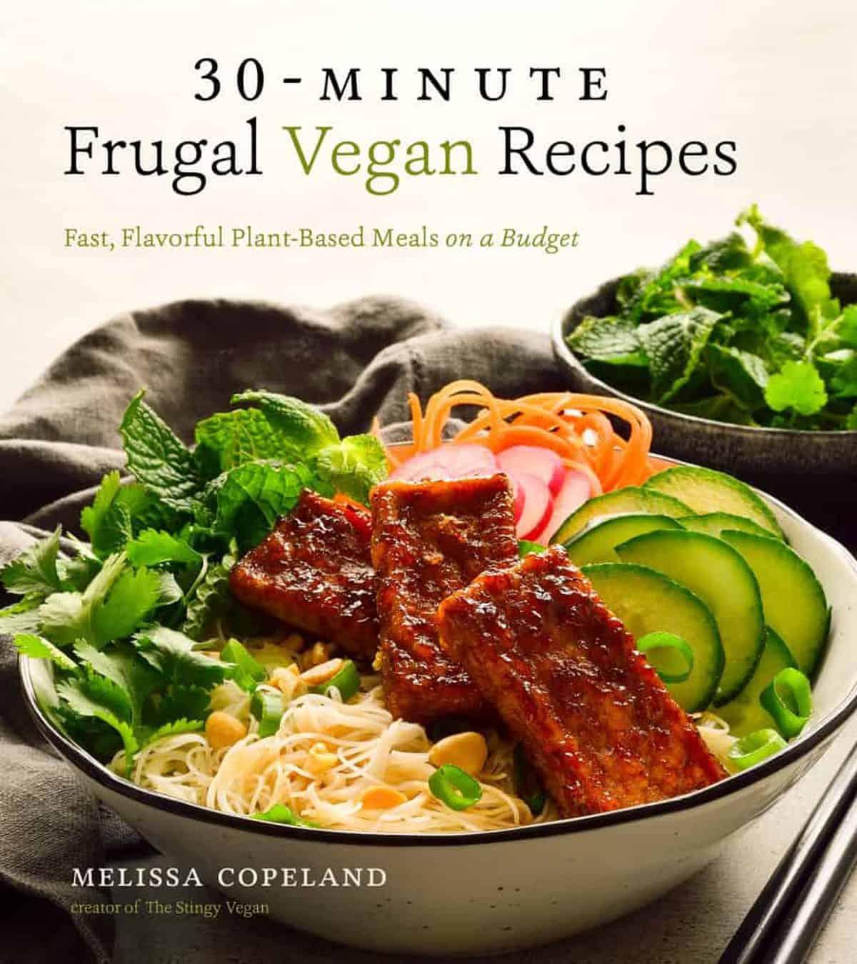 30 Minute Frugal Vegan Recipes Cookbook Cover