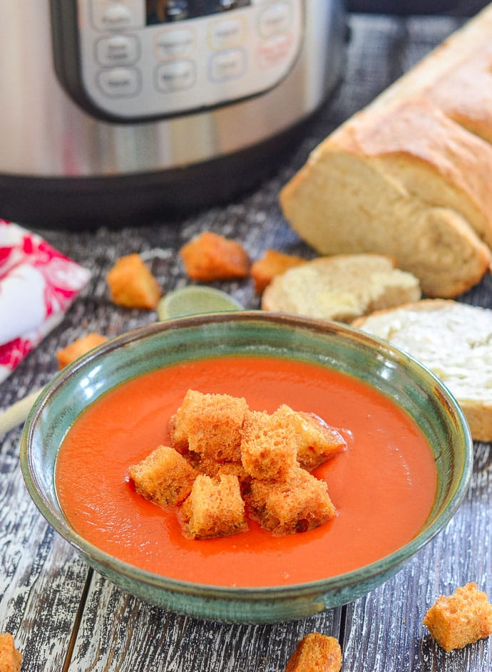 Instant Pot Tomato Soup - (with stove top instructions)