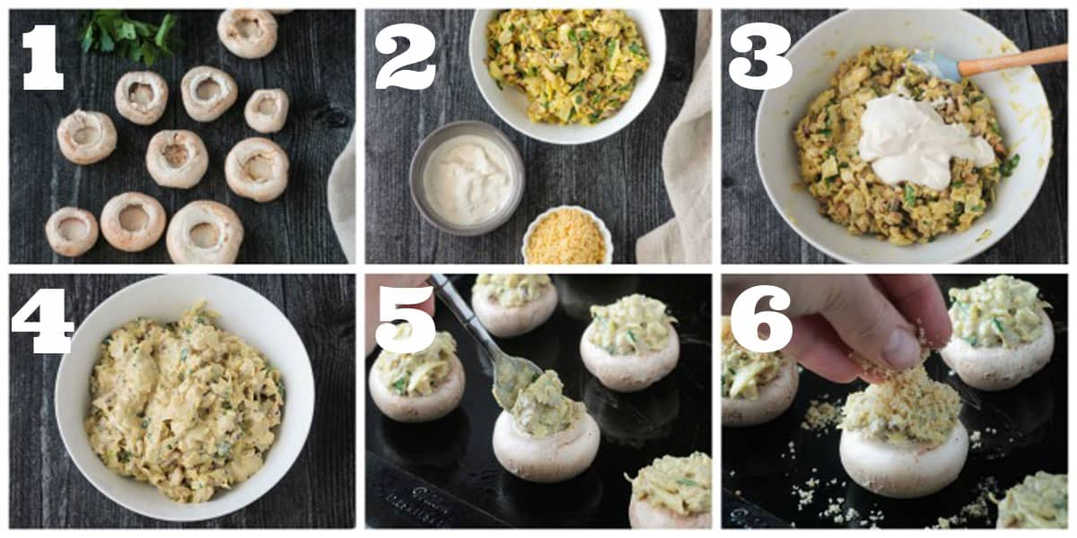 Collage of step by step photos showing how to make this recipe.