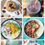 6-photo collage of breakfast recipes.