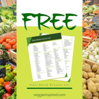 Plant Based Diet Grocery Llist
