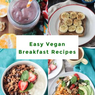 Plant Based Breakfast Recipes image for pinterest