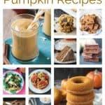 10-photo collage of vegan pumpkin recipes.