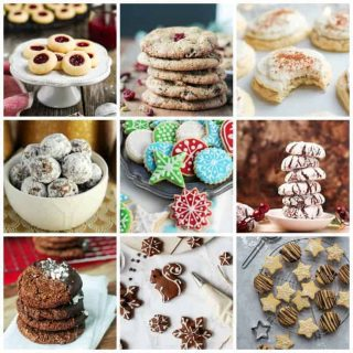 9-photo collage of Vegan Christmas Cookies.