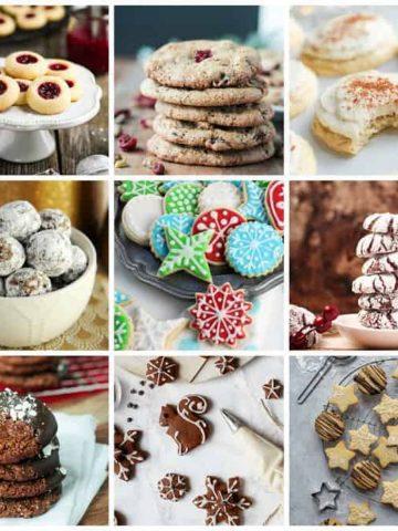 9-photo collage of Vegan Christmas Cookies.