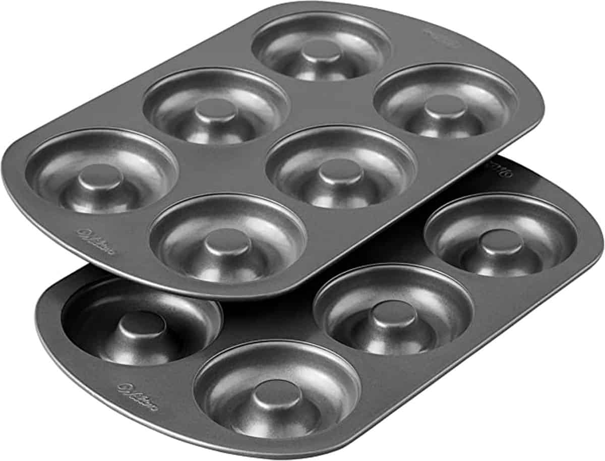 Set of two 6-cavity donut pans.