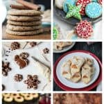 6-photo collage of vegan Christmas cookies.
