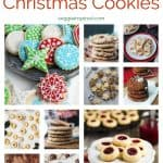 10-photo collage of vegan Christmas cookies with text overlay, Santa's Favorite Christmas Cookies.
