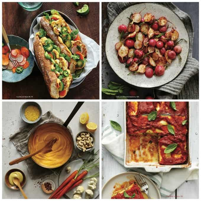 photo collage of 4 recipes from the cookbook
